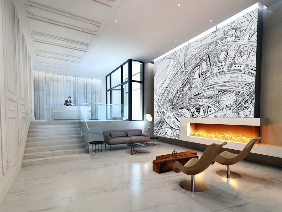 עיצוב לובי במלון