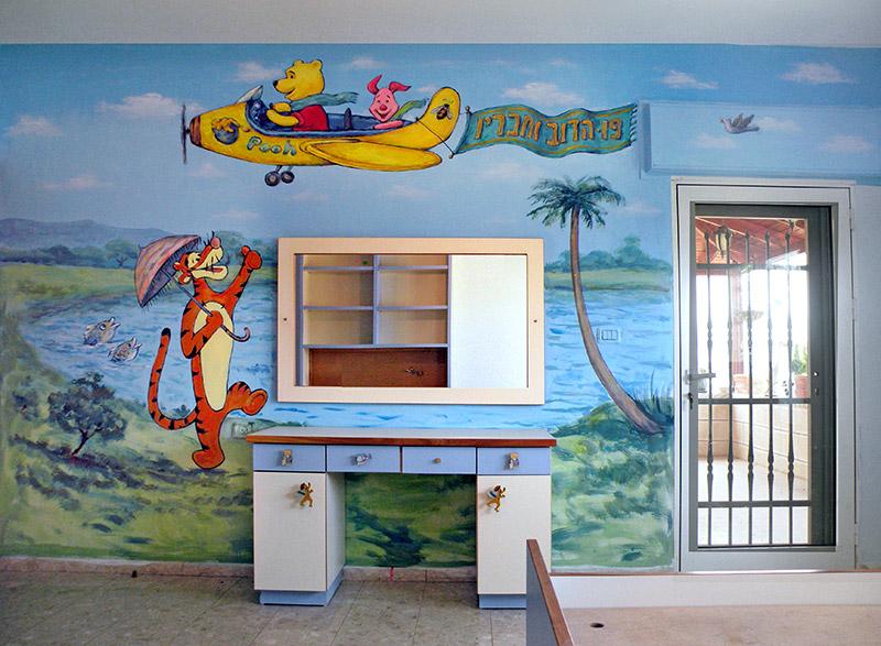 ציורי קיר לעיצוב חדר תינוקות