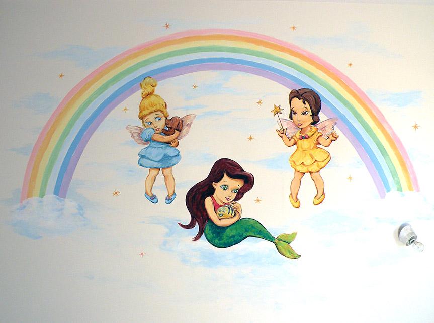 ציורי קיר לתינוקות פיות ובת ים הקטנה