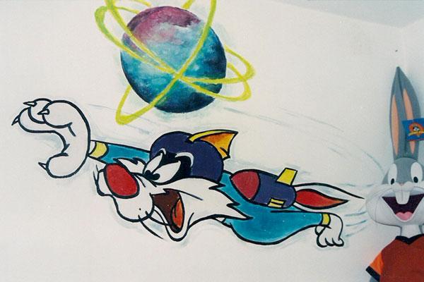 ציורי קיר סילבסטר החתול