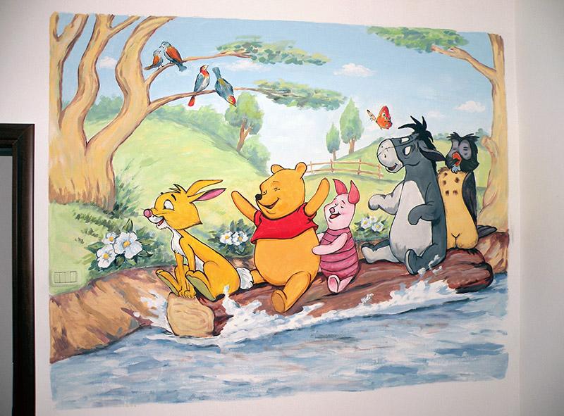 ציורי קיר פו הדוב על הנהר