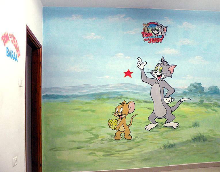 ציורי קיר טום וג'רי