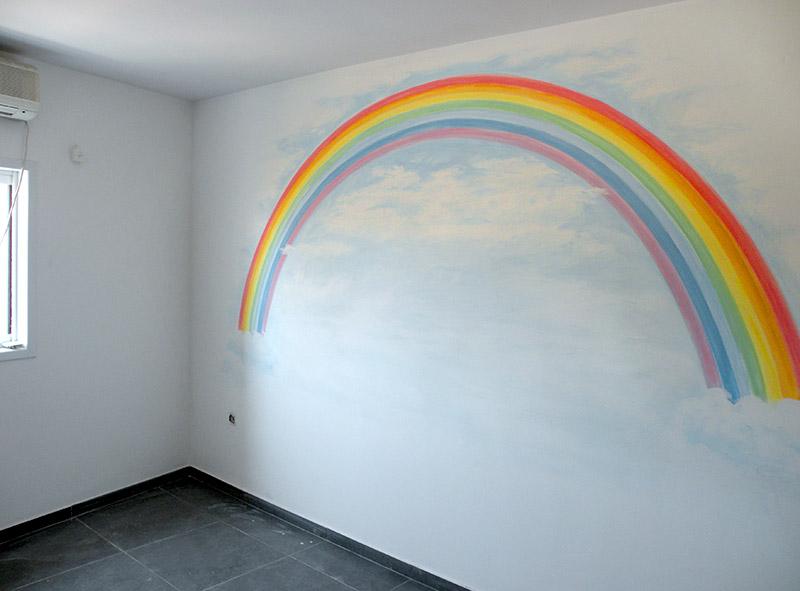 ציורי קיר קשת לילדים
