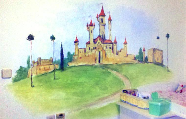 ציורי קיר ארמון לחדרי ילדים