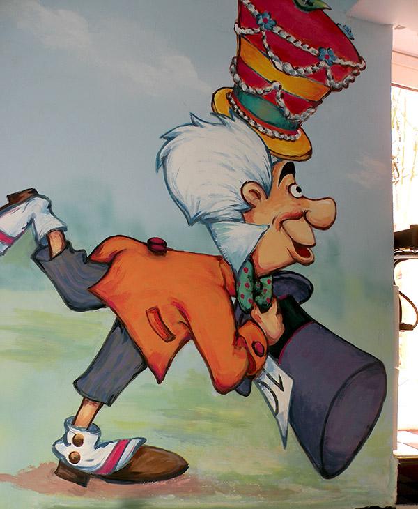 ציורי קיר של קוסם לחדר תינוקות