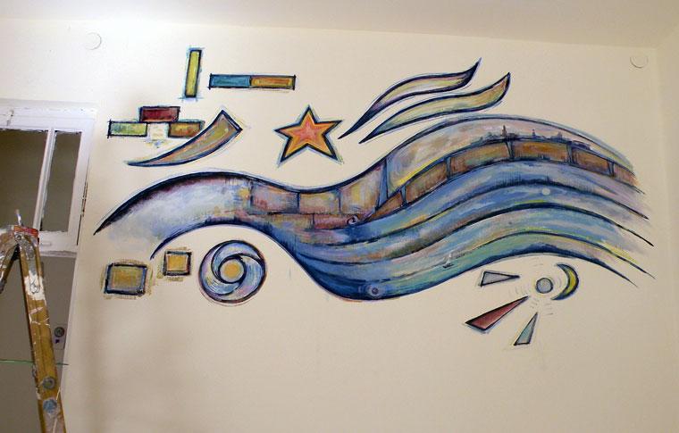 ציורי קיר בסגנון אבסטרקטי