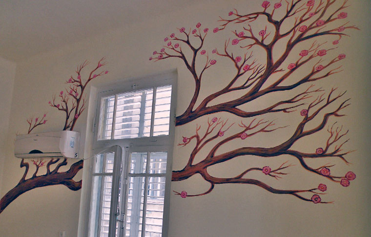 ענף סאקורה ציורי קיר