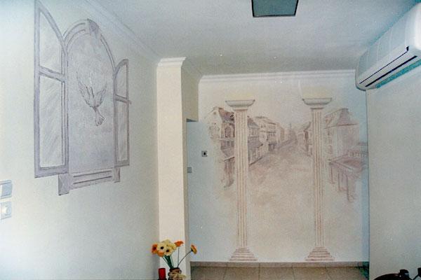 ציורי קיר של יונה לסלון