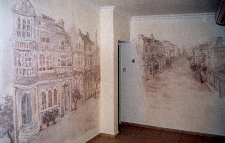נוף ארופאי מסוף המאה ה- 19 ציורי קיר