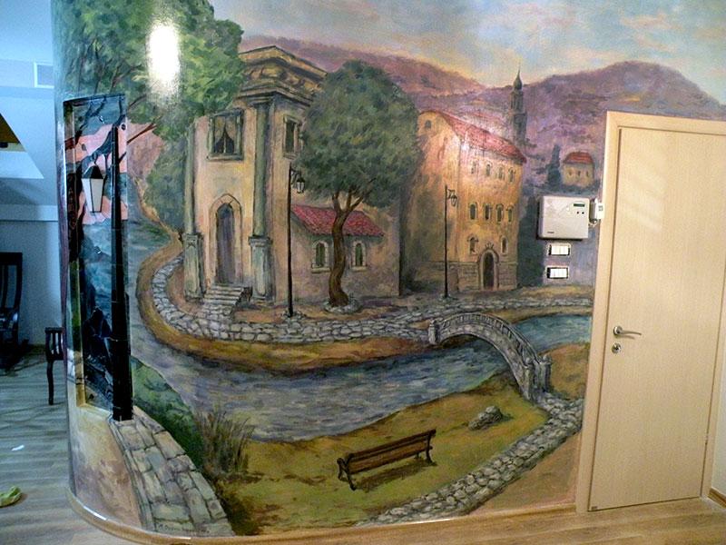 ציורי קיר נוף ארופאי