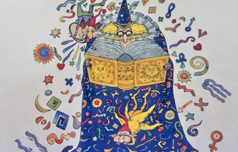 ציורי קיר קוסם וספר לגן ילדים