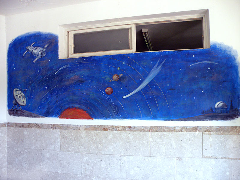 ציורי קיר חלל ולווינים