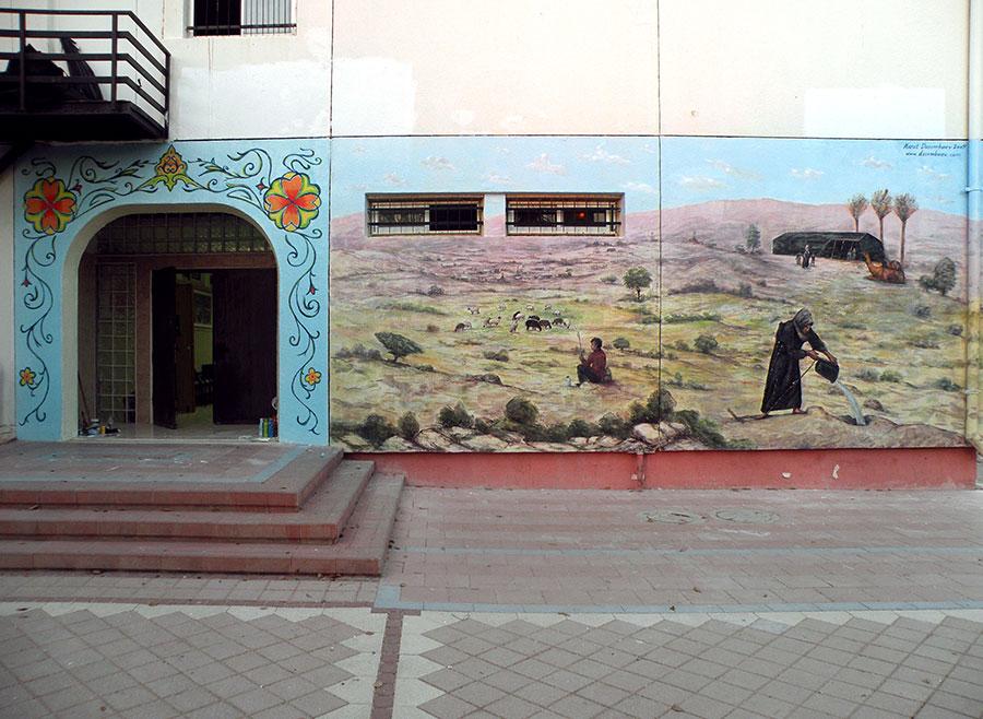 ציורי קיר בדואים במדבר