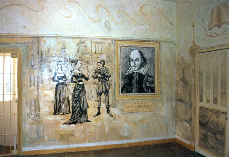 ציורי קיר דיוקנו של וויליאם שייקספיר