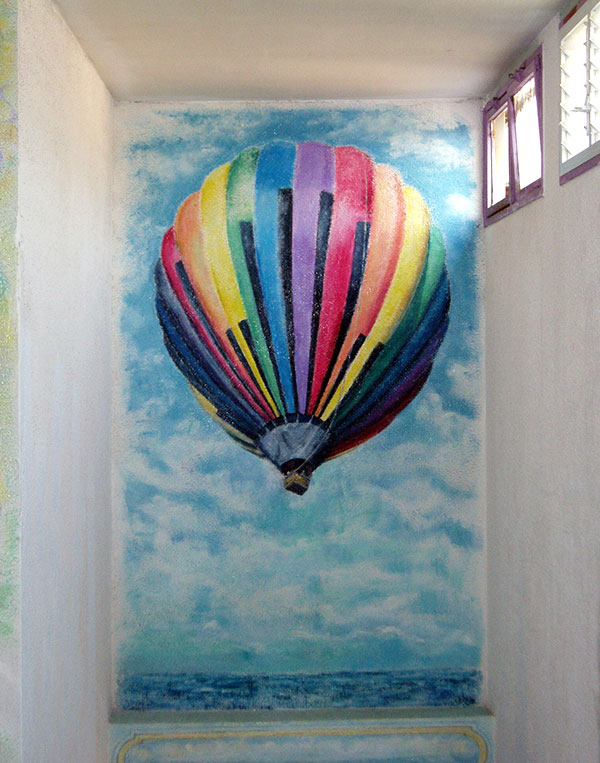 ציורי קיר כדור פורח
