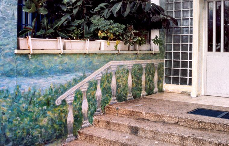 ציורי קיר של מעקה