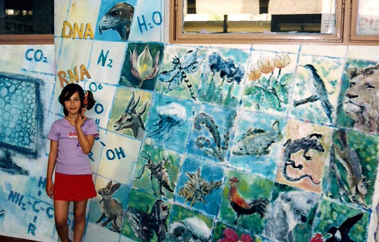 ציורי קיר טבלה של ממלכת החיות
