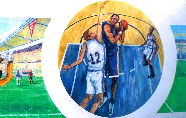 ציורי קיר לנוער שחקני כדורסל