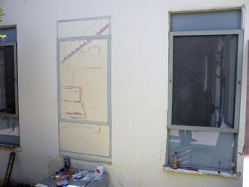 התחלה ציור של חלון