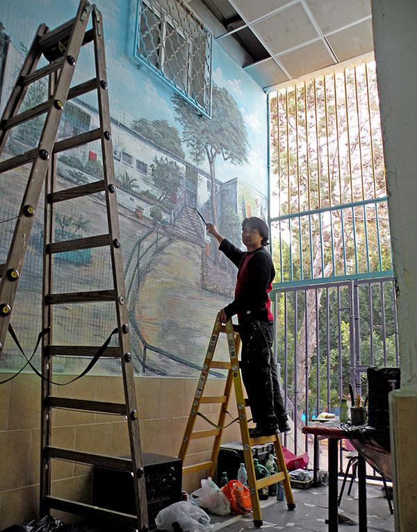 תהליכי עבודה של ציורי קיר