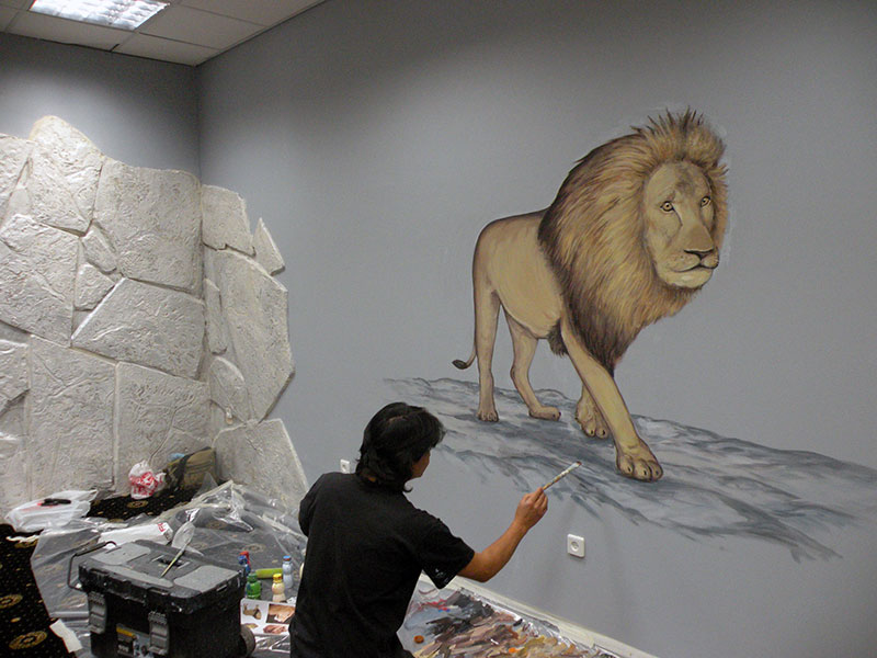 מארט מצייר אריה למועדון