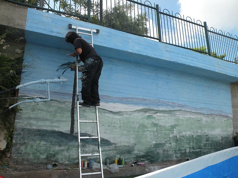 המשך ציור קיר בצימר