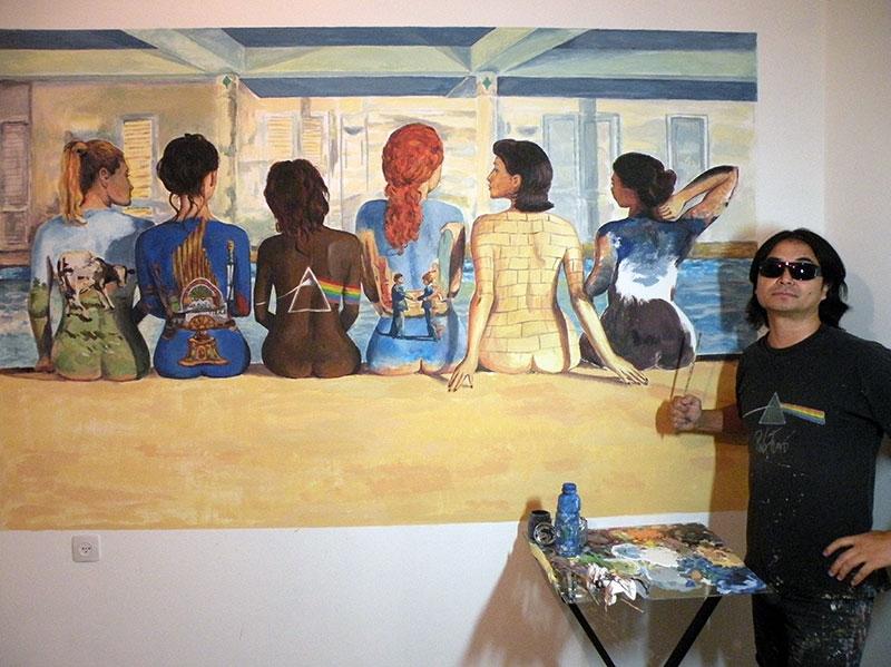 עבודה על ציור קיר קרובה לסיום