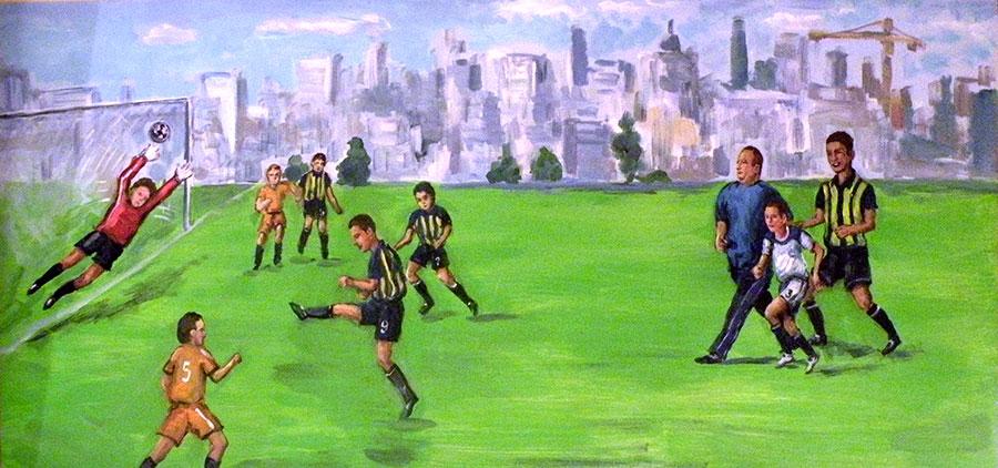 סקיצה לציור של כדורגל