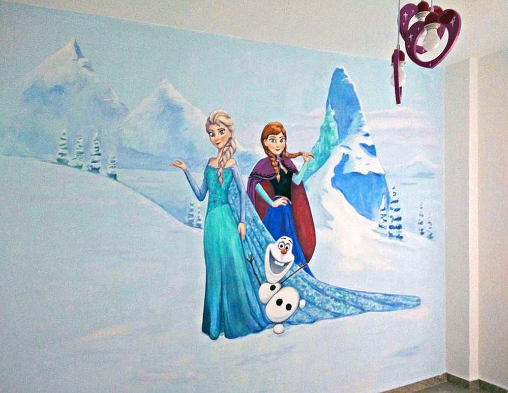 ציור קיר מהסרט פרוזן