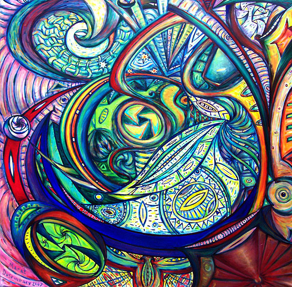 תמונה שמן על בד Abstract Painting (Large)