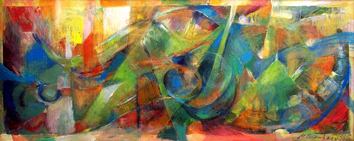 תמונה שמן על בד Abstract Song
