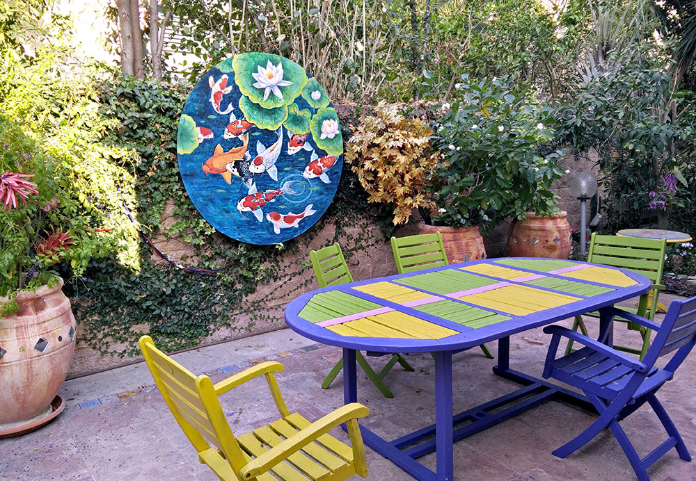 עיצוב של חצר הבית