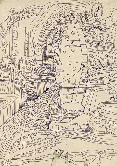 ציורי אבסטרקט דיוקנים Stairs To Love