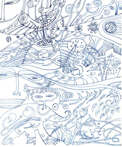 ציורי אבסטרקט Poetic metamorphoses