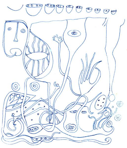 ציורי אבסטרקט דיוקנים Erotic Dream