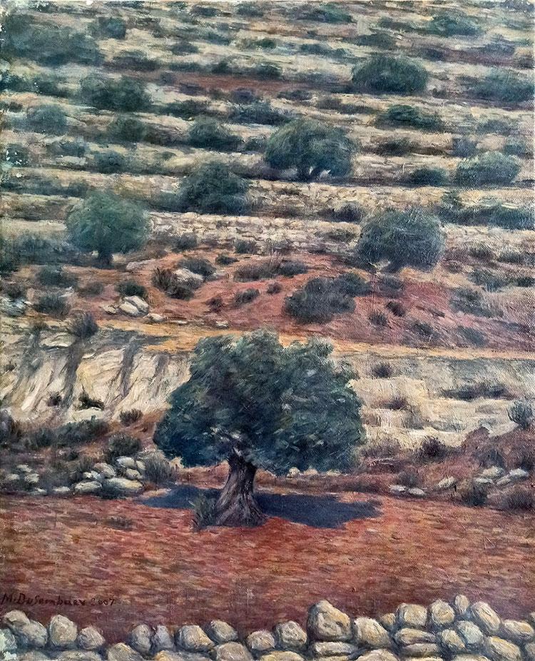 תמונה שמן על בד הרי ירושלים