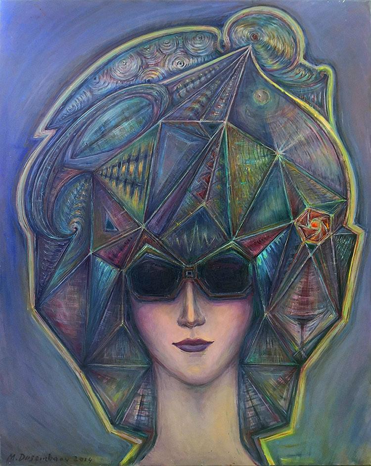 ציור מופשט - אישה עם שיער אבסטרקט