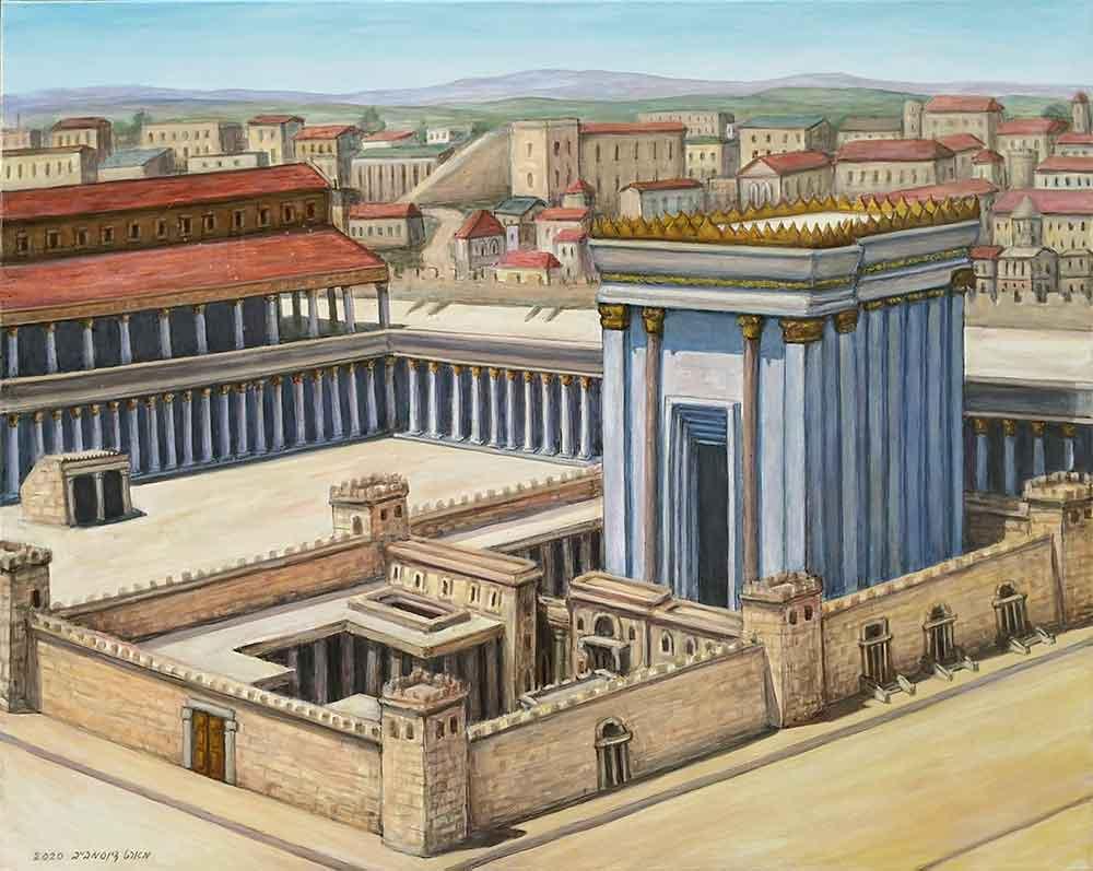 תמונת בד של בית המקדש