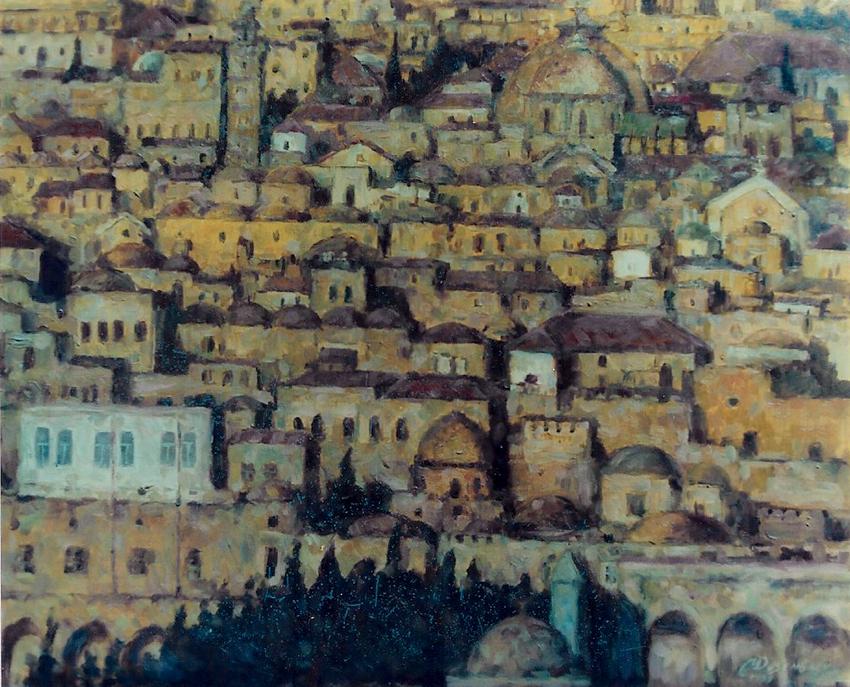 ירושלים של זהב - תמונת שמן