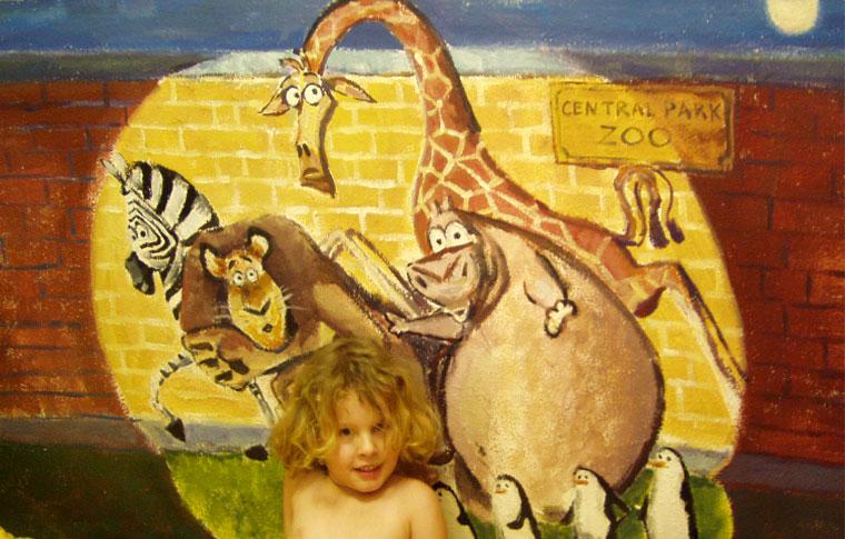 ציורי קיר מהסיפור מדגסקר