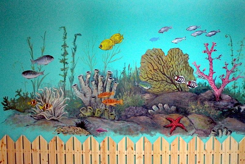 ציורי קיר ים ועולם תת ימי לילדים
