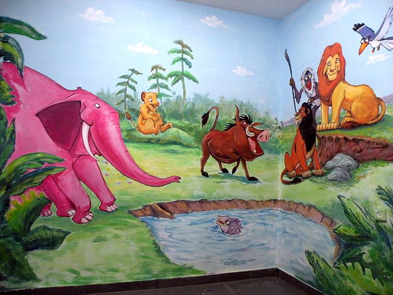 ציור קיר ממלך האריות