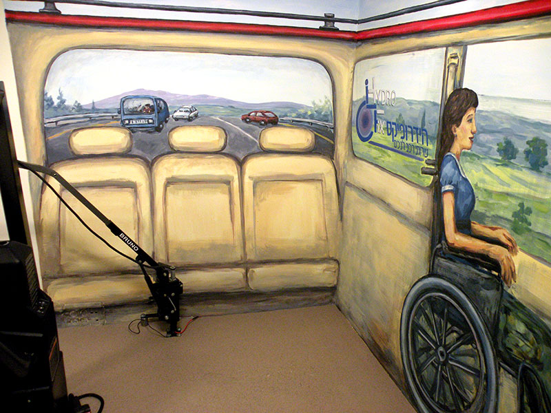 ציורי קיר של חלון אחורי