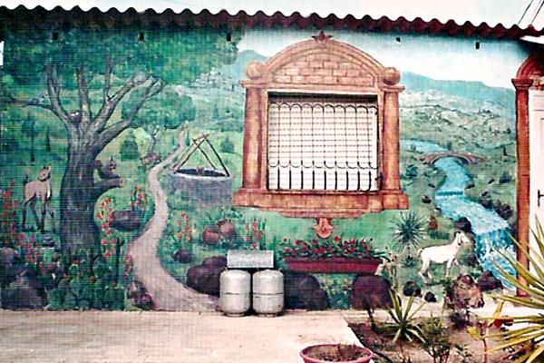 ציורי קיר במושב ליד ירושלים