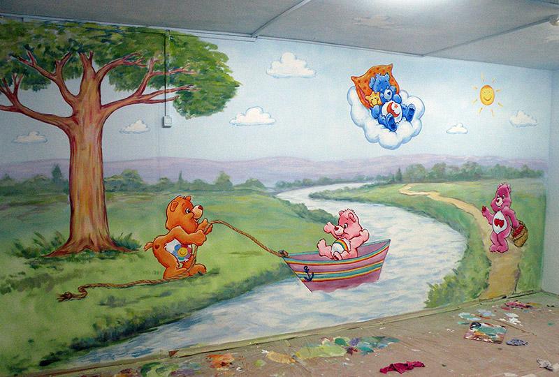 ציורי קיר דובוני אכפת לי לילדים