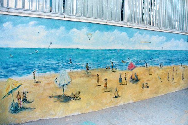 ציורי קיר ילדים בחוף הים