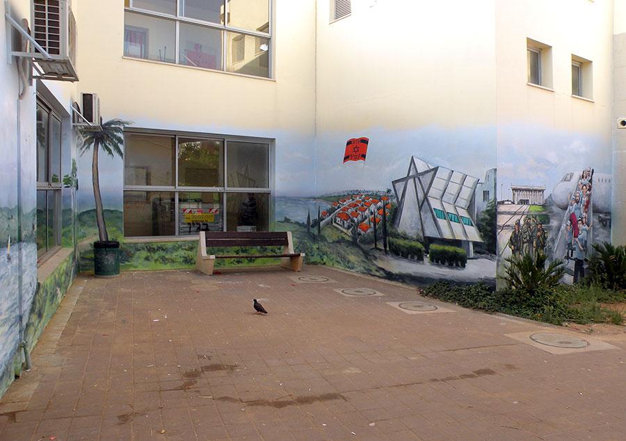 ציורי קיר בית כנסת גוש קטיף