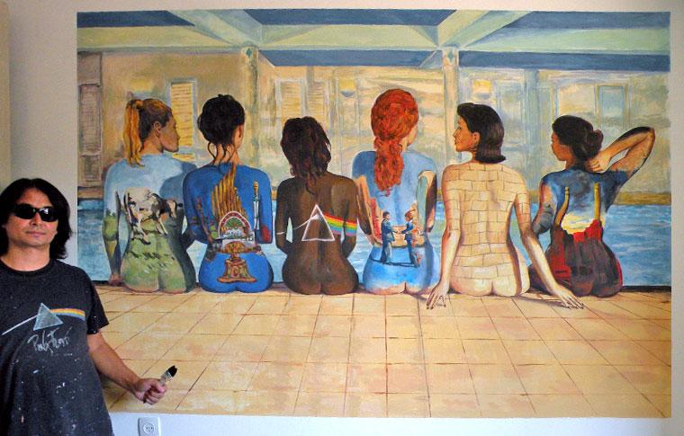 האלבום פינק פלויד ציורי קיר לחדרי נוער