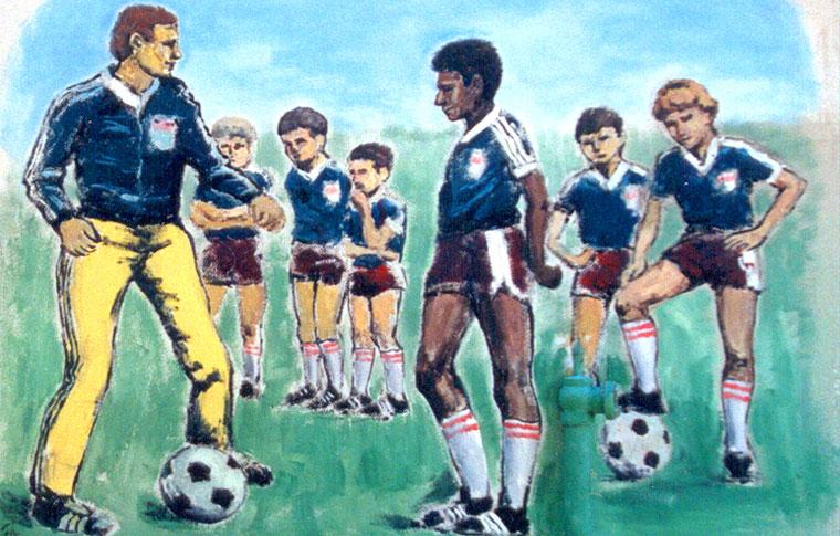 ציורי קיר לנוער שחקני כדורגל