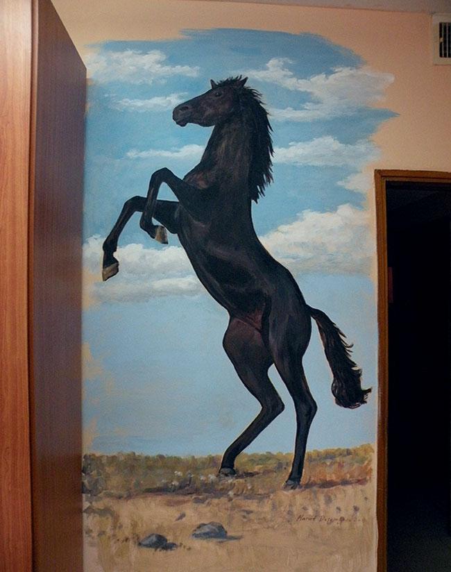 ציורי קיר של סוס